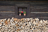 Cottage venster — Stockfoto