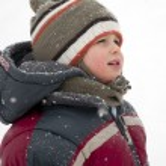 Kind Winter portrait — Stockfoto