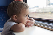 Child on train — Stock Photo