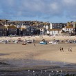 Beach and port of St.Ives in Cornwall — Lizenzfreies Foto