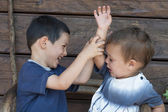 Children fighting, sibling rivalry — Stock Photo