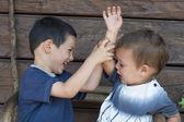 Children fighting, sibling rivalry — Stock Photo