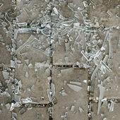 Broken glass pieces — Stock Photo