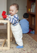 Children playing at home — Stock Photo