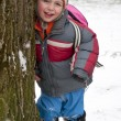 Child in winter park — Stock Photo #38115135
