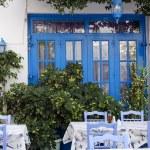 Street restaurant in Greece — Stock Photo