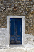 Wooden door in Greece — Stock Photo
