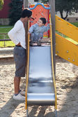 Father and child at playground — Stock Photo