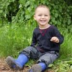 Happy child outdoors — Stock Photo