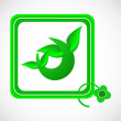 Ecology icon - Stockvektor