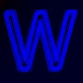 霓虹灯的字母表或抽象的发光符号的字母 — 图库矢量图片