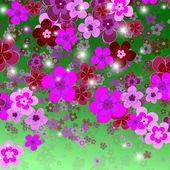 花の背景、幸福の花 — ストックベクタ