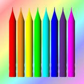 铅笔、 抽象背景、 矢量风格 — 图库矢量图片