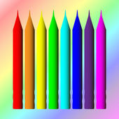 Crayon, abstrait, style vecteur — Vecteur