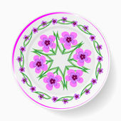 The dish, painting floral pattern — ストックベクタ