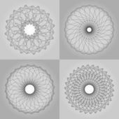 Padrão abstrato, criado pela rotação do corpo geométrico — Vetor de Stock