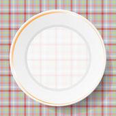 Peçeteye görüntü yemekleri — Stok Vektör