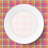 Image dishes on a napkin — Stock Vector