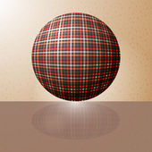Ball with the texture of fabric and a reflection on the surface — Stock Vector