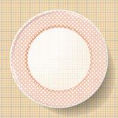Obraz kuchni ze wzorem na serwetce — Wektor stockowy