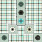 Set di tessuto con bottoni — Vettoriale Stock