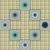 Set of fabric with buttons on a contrasting background — Stockvector