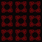 Strana rudých růží — Stock vektor