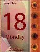 カレンダーで週の日 — ストックベクタ