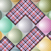 Abstract pattern from balls of different colors — Stockvector