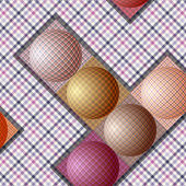 Modèle abstrait de boules de couleurs différentes — Vecteur
