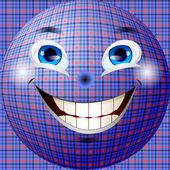 Abstrakt och glada bollen med strukturen på tyget — Stockvektor