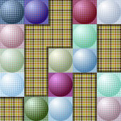 Abstract pattern from balls of different colors — Stock Vector