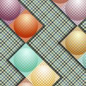 Abstrato padrão de bolas de cores diferentes — Vetorial Stock