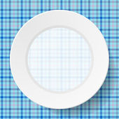 Image dishes on a napkin with a seamless texture — Stok Vektör