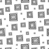 Seamless pattern with geometric elements in retro style — Stock Vector