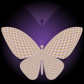 Butterfly and its reflection — Stock Vector