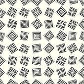 レトロなスタイルの幾何学的要素とのシームレスなパターン — ストックベクタ