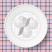 Image dishes on a napkin with a seamless texture — Stock Vector