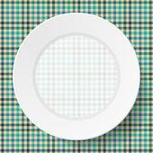 Peçeteye sorunsuz bir doku ile görüntü yemekleri — Stok Vektör
