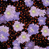 Abstract flowers on a background of stars — ストックベクタ