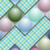 Abstrakcyjny wzór od piłki w różnych kolorach — Wektor stockowy