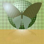 Vlinder aan de bal — Stockvector