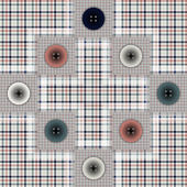 Set of fabric with buttons — 图库矢量图片