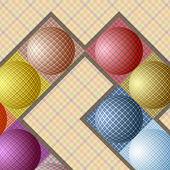 異なる色のボールから抽象的なパターン — ストックベクタ