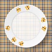 Pratos de imagem em um guardanapo com uma textura perfeita — Vetorial Stock