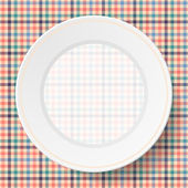 Image dishes on a napkin with a seamless texture — Vecteur