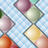 Abstraktní vzor od koule různých barev — Stock vektor