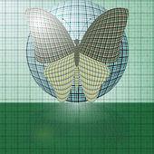 Motyl na piłkę — Wektor stockowy