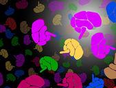 Brain background — Stock Vector