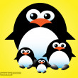 Penguins family - Stock Vector